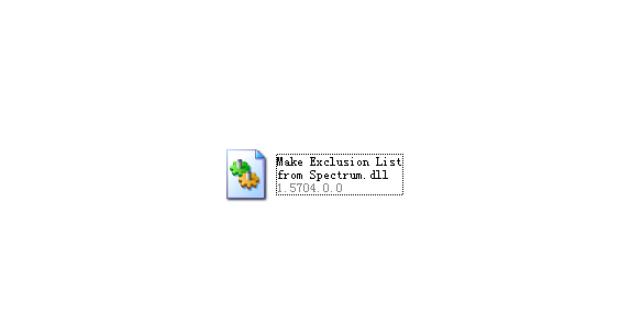Make Exclusion List from Spectrum.dll